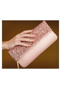 Clutch Luxo Dourado Rosé Eudora
