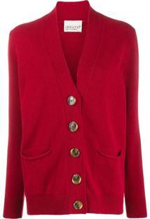 Aragona Oversized Button Cardigan - Vermelho