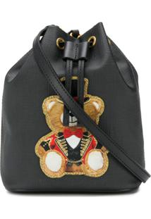 Moschino Teddy Bucket Bag - Preto