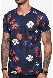 Camiseta Tropical Azul 103859
