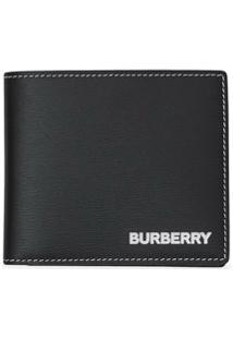 Burberry Carteira Com Estampa De Logo - Preto