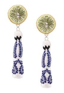 Mignonne Gavigan Tequila Bottle Earrings - Verde