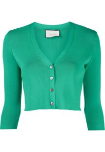 Alexis Cardigan Cropped - Verde
