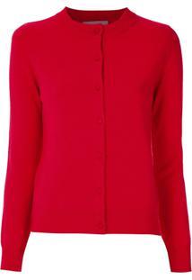Egrey Cardigan De Lã - Vermelho