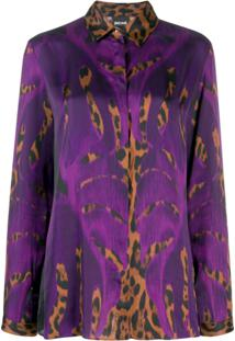 Just Cavalli Blusa Animal Print - Roxo