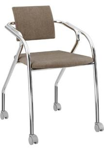 Cadeira Jersey Carraro Camurça/Conhaque