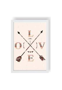Quadro Love Decor Decorativo Com Moldura Love