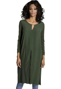 Blusa Bata Maxi Colcci Feminino - Feminino-Verde Militar