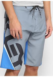 Bermuda D'Água Oakley Estampada B1B Blocked Boardshorts Masculina - Masculino-Azul Claro