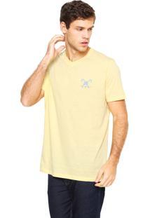 Camiseta Polo Play Bordado Amarela