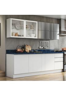 Cozinha Compacta Bbb 7 Pt 4 Gv Branca E Azul