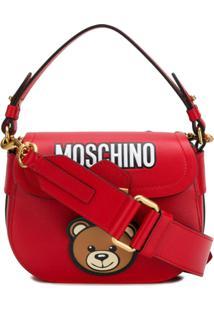119c76930 R$ 5882,00. Farfetch Bolsa Vermelha Feminina Moschino Couro ...