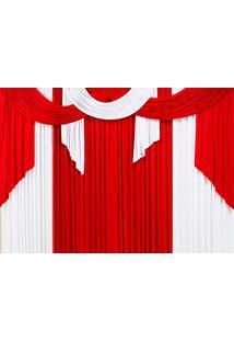 Cortina Casa Conforto Elegance 4M- Vermelho