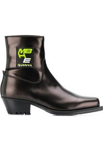 Misbhv Ankle Boot Com Patch De Logo - Preto