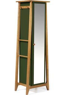 Armario Multiuso Stoka Cor Amendoa Com Verde Escuro - 31602