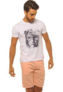 Camiseta Joss Premium New Nature Queen Masculina - Masculino-Branco