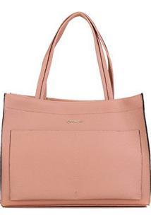Bolsa Dumond Shopper Soft Relax Grande Feminina - Feminino-Rosa