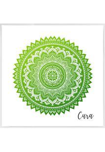 Quadro Decorativo Mandala- Branco & Verde Claro- 40Xarte Prã³Pria