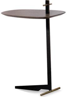 Mesa De Apoio Iron Oval Estilo Minimalista Destack Móveis Design By Mauricio Bomfim