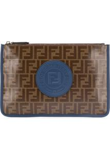Fendi Monogram Clutch - Marrom