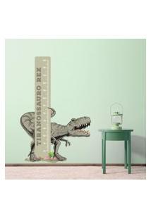 Adesivo De Parede Infantil Dinossauro Jurassic Régua