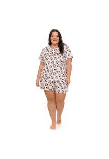 Pijama Plus Size Feminino Minnie Disney Evanilda
