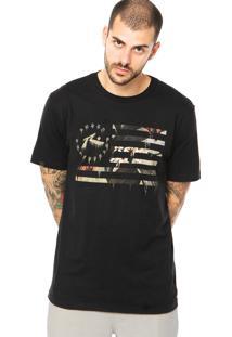 Camiseta Manga Curta Rusty Flagged Preta