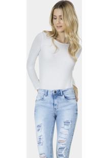 Calça Skinny Cropped Strass Elastic Jeans - Lez A Lez