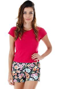 Camiseta Básica Feminina Tigs - Pink