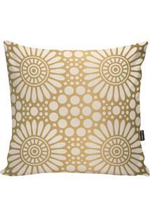 Capa Para Almofada Indian - Bege Claro &Dourada - 4Stm Home