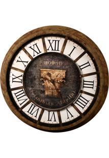 Relógio De Parede Decorativo Romano De Metal