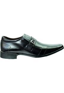 Sapato Social Pegada Anilina Levitech Vegetal - Masculino-Preto