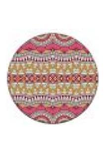 Tapete Redondo Wevans Mandala Abstrato 84Cm