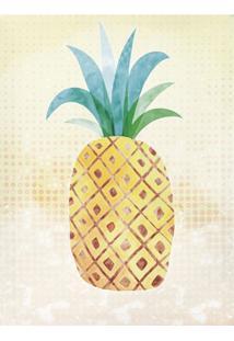Quadro Decorativo Abacaxi Amarelo