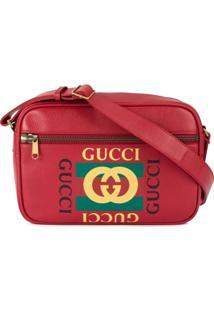 Gucci Printed Messenger Bag - Vermelho