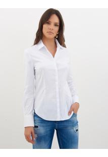 Camisa Le Lis Blanc Priscila Branco Feminina (Branco, 48)