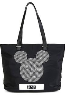 Bolsa Gash Shopper Mickey Feminina - Feminino-Preto