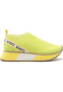 Tênis Bold Sole Knit Yellow Neon | Schutz