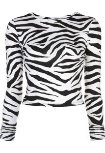 Alice+Olivia Blusa Com Estampa Animal Print - Preto