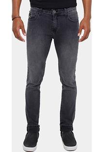 Calça Jeans Skinny Coca Cola Fit Stone Black Masculina - Masculino