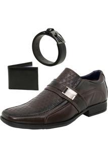 Sapato Masculino Social Café Tratos - 3371