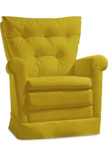 Poltrona De Amamentação Ilha Bela Confort Suede Amarelo