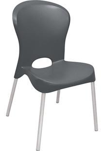 Cadeira Jolie Em Plástico E Alumínio Preta 92060009 Tramontina