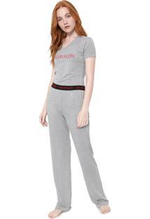 Pijama Calvin Klein Underwear Visco Modern Cinza