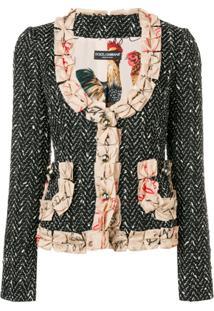 Dolce & Gabbana Blazer Com Detalhes De Laço - Preto