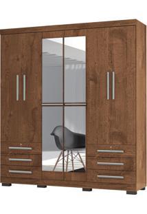 Guarda-Roupa Casal Londres Malbec 6 Portas E 6 Gavetas E Espelho -Incorplac