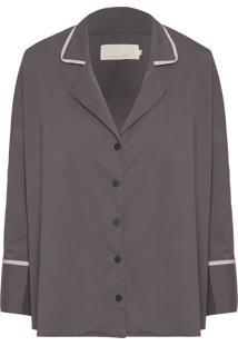 Camisa Feminina Eugene - Cinza