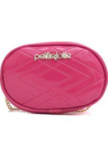 Bolsa Petite Jolie Rebel Verniz Pink