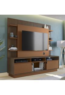 Estante Para Tv Até 60 Polegadas Com Som 2 Portas Po427 Jacarandá/Terracota - Kappesberg