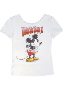 Blusa Com Decote Redondo Branco